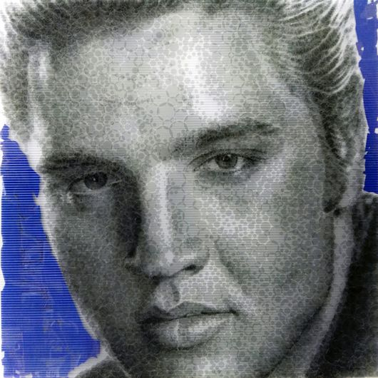 Portrait of Elvis Presley