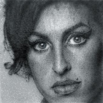 Portrait of Amy Winehouse